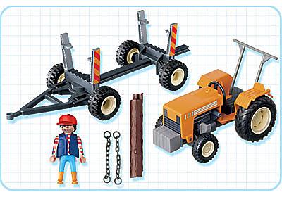 4209-A Traktor mit Langholztransport detail image 2