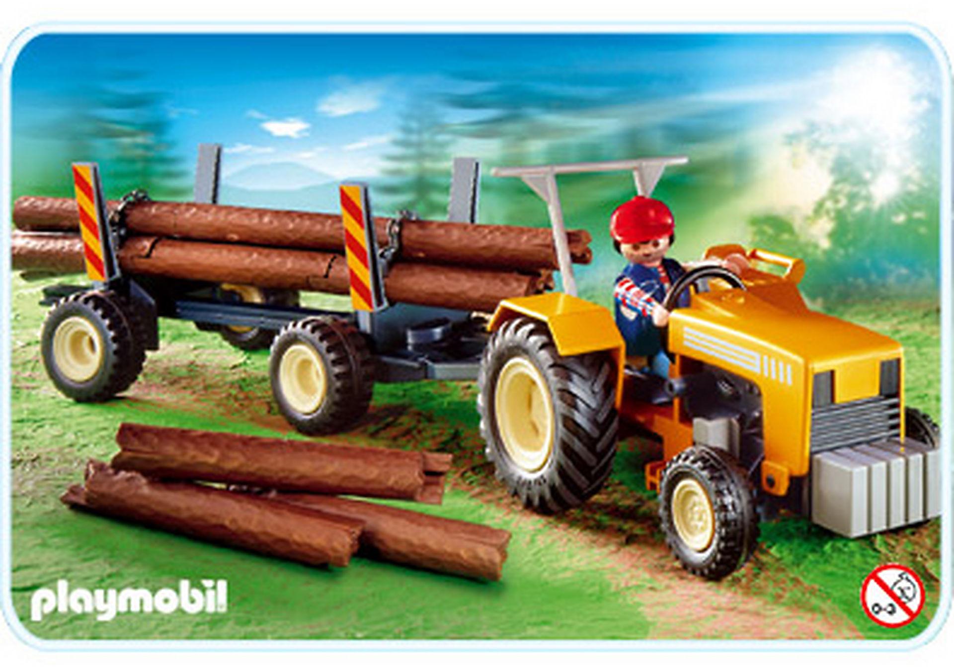 4209-A Bûcheron / troncs d'arbres / tracteur zoom image1