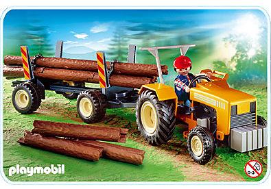 4209-A Traktor mit Langholztransport detail image 1