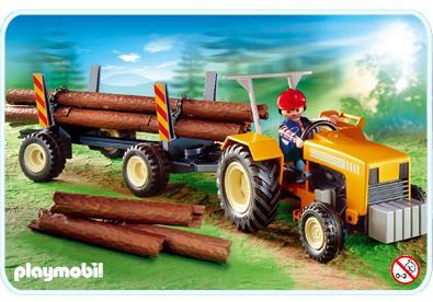 tracteur forestier playmobil