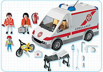 4221-A Ambulanciers / blessé / véhicule detail image 2