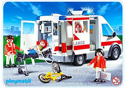 4221-A Ambulanciers / blessé / véhicule detail image 1