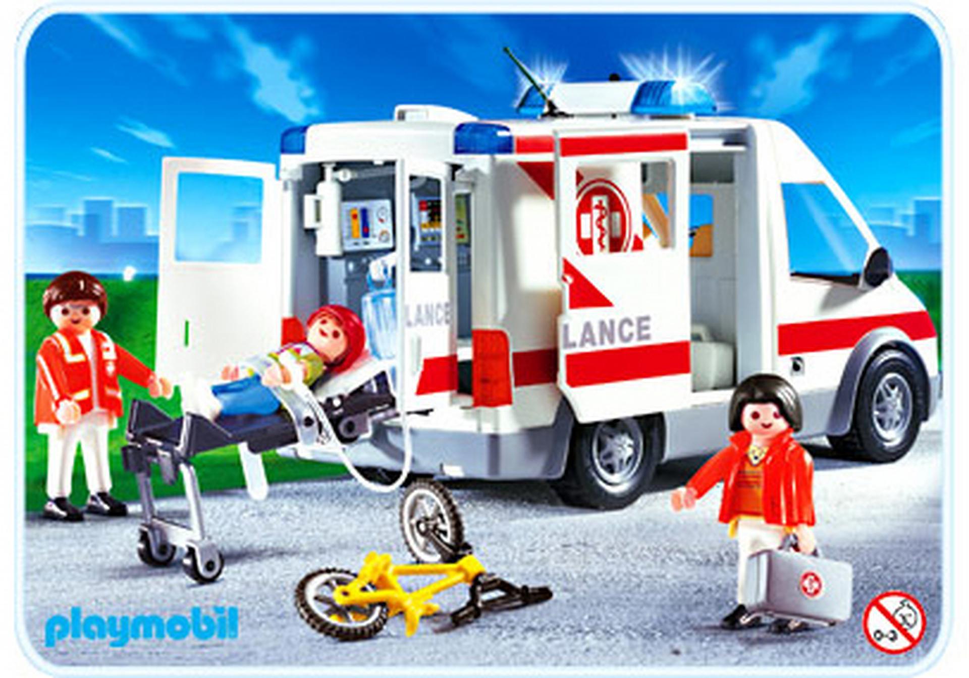 ambulanciers bless v hicule 4221 a playmobil france. Black Bedroom Furniture Sets. Home Design Ideas