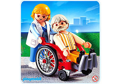 4226-A Doctoresse / malade / fauteuil roulant
