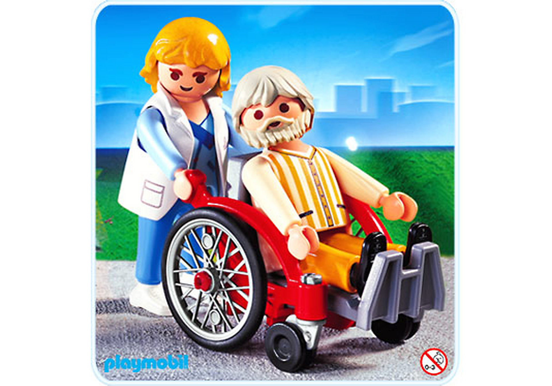 4226-A Pflegerin mit Patient zoom image1