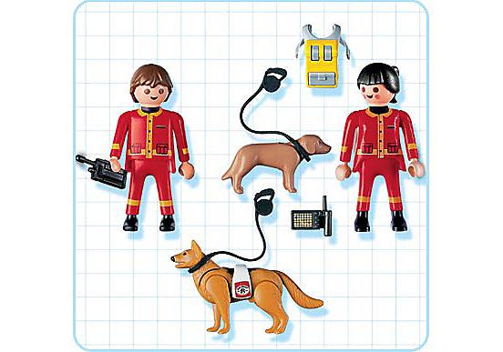 4227-A Secouristes / chiens sauveteurs detail image 2