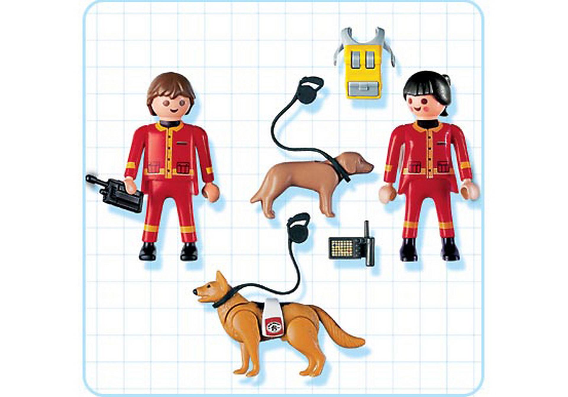4227-A Secouristes / chiens sauveteurs zoom image2