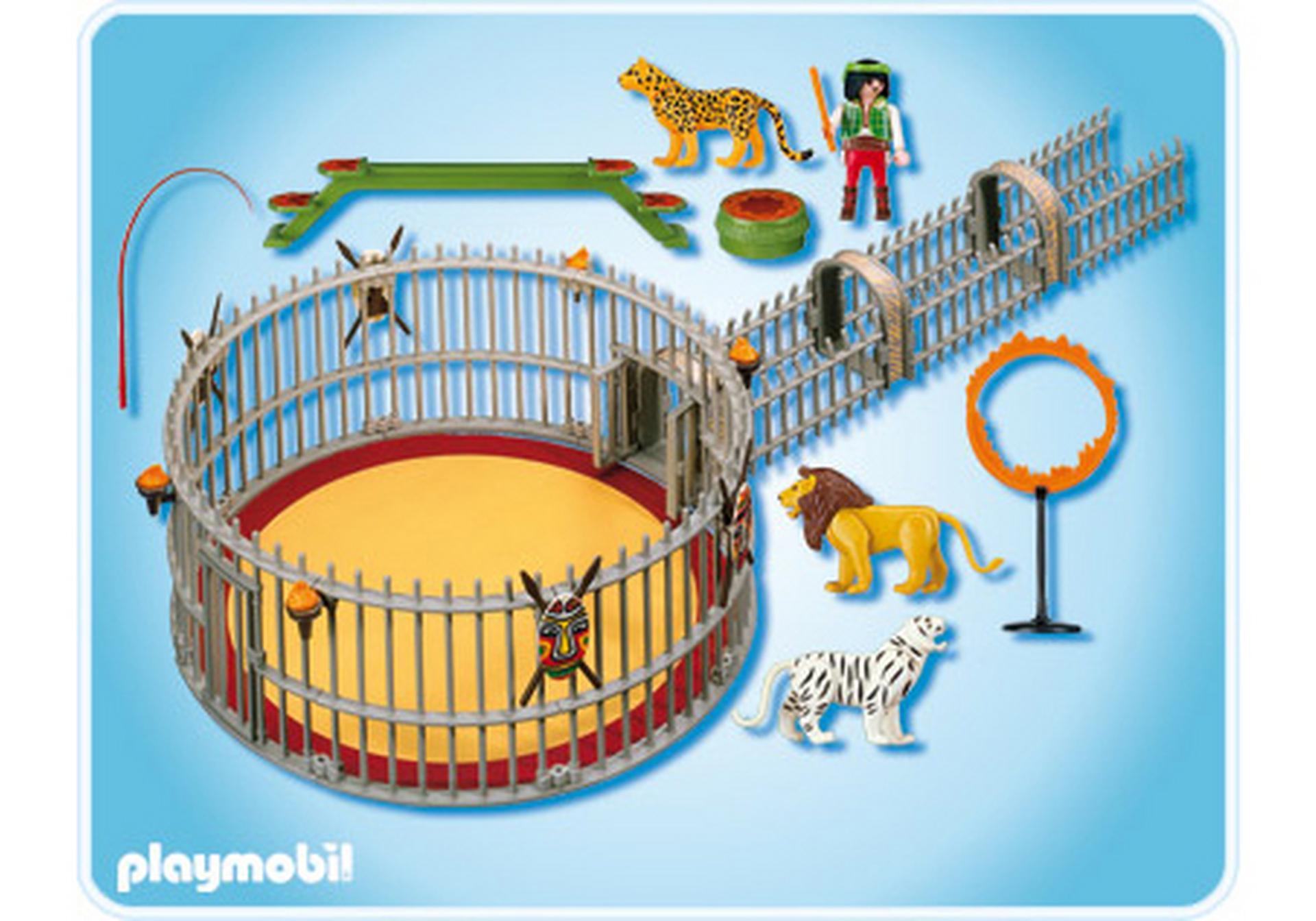 Dresseur avec cage aux fauves 4233 a playmobil france - Cirque playmobil ...