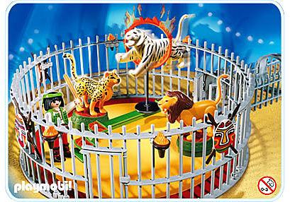 4233-A Dresseur avec cage aux fauves detail image 1