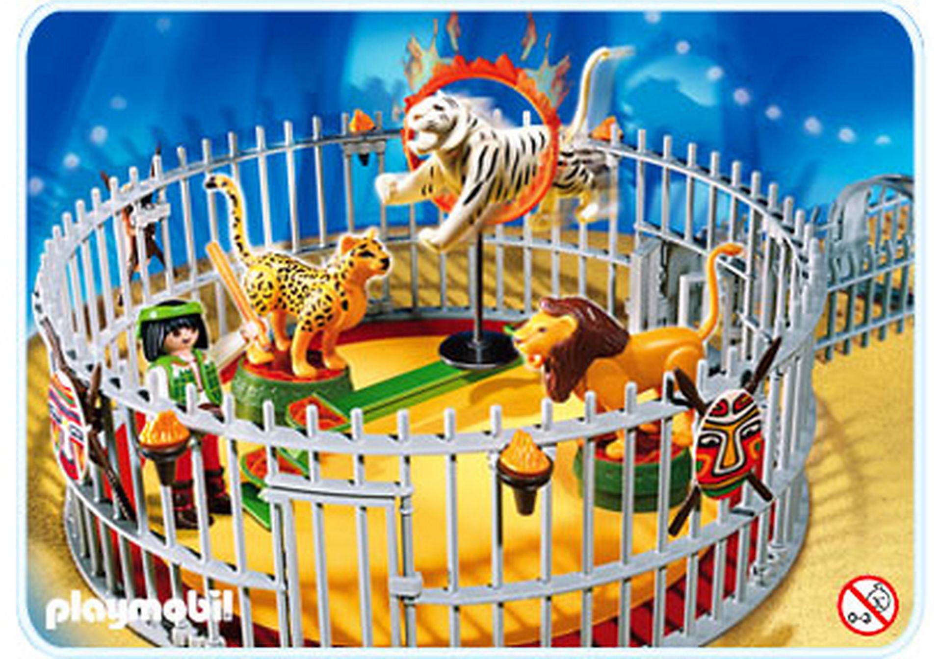 4233-A Dresseur avec cage aux fauves zoom image1
