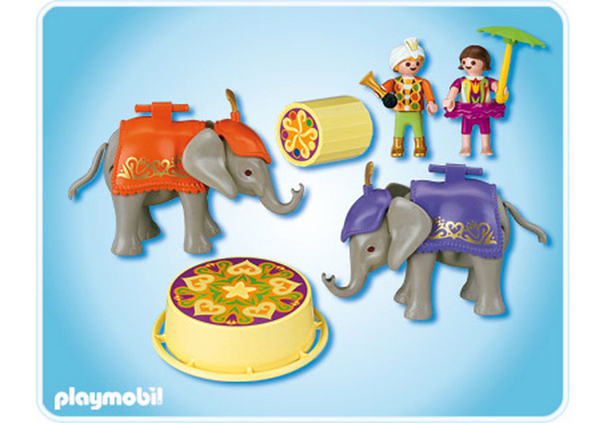 4235-A Enfants acrobates et éléphanteaux zoom image2