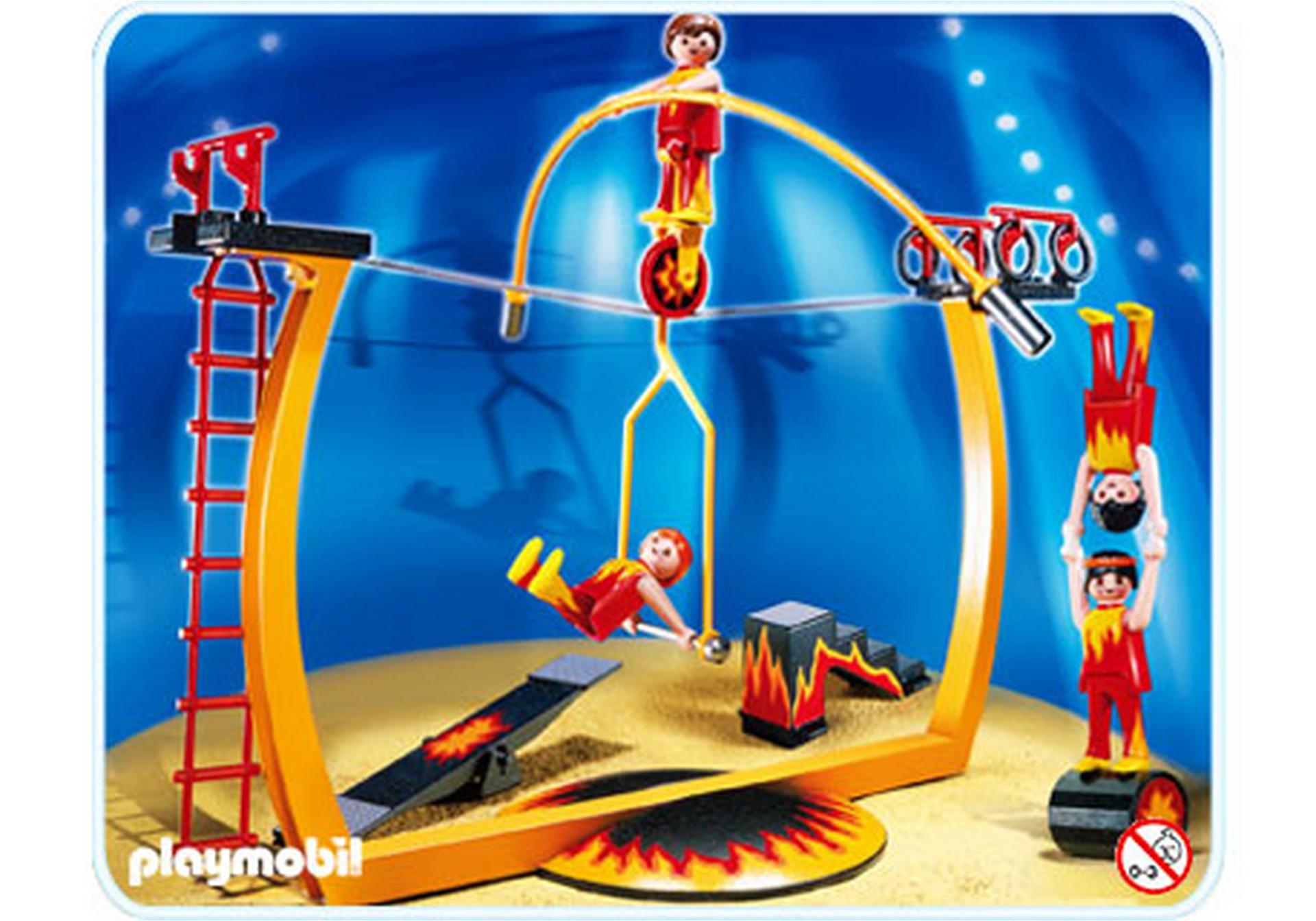 Funambules avec piste d 39 acrobaties 4236 a playmobil - Cirque playmobil ...