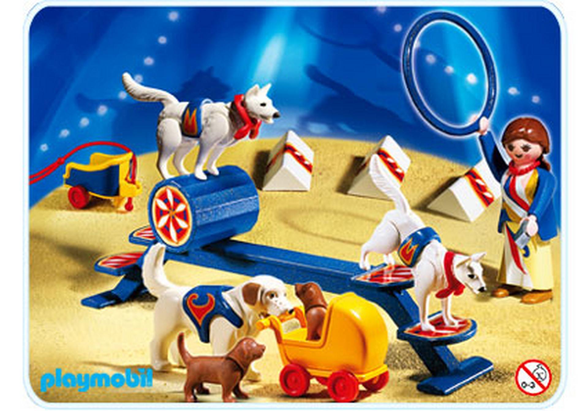 Educatrice avec chiens savants 4237 a playmobil france - Cirque playmobil ...