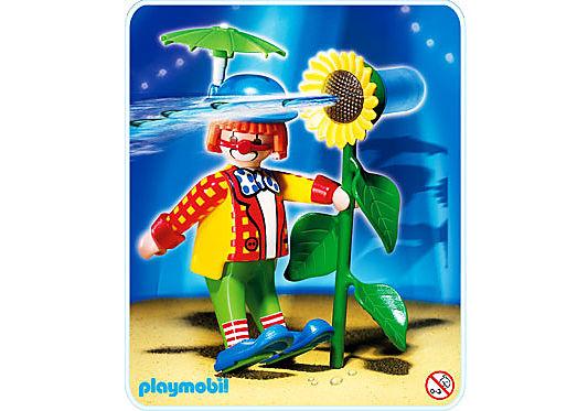 4238-A Clown avec fleur lance-eau detail image 1
