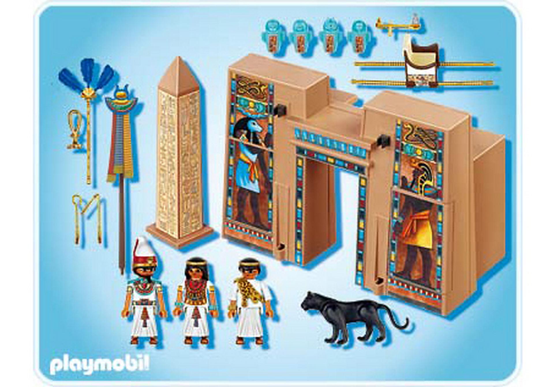 4243-A Pharaon et pylône de temple zoom image2