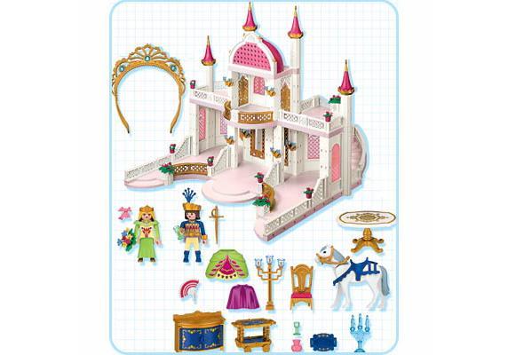 Ch teau de princesse 4250 a playmobil suisse for Notice de montage chateau princesse playmobil