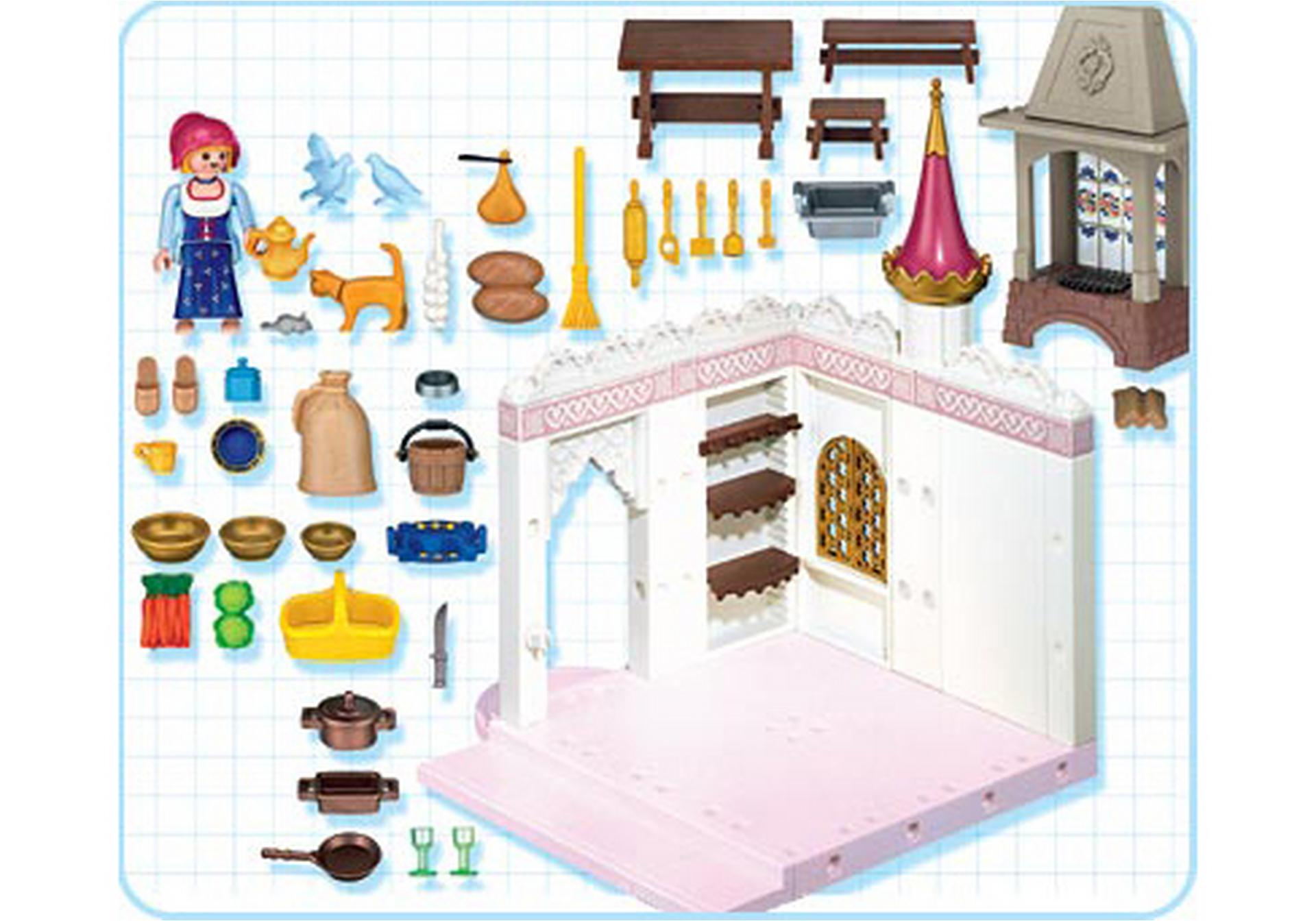 cuisini re cuisine de princesse 4251 a playmobil france. Black Bedroom Furniture Sets. Home Design Ideas