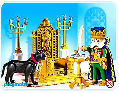 4256-A König mit Thron detail image 1