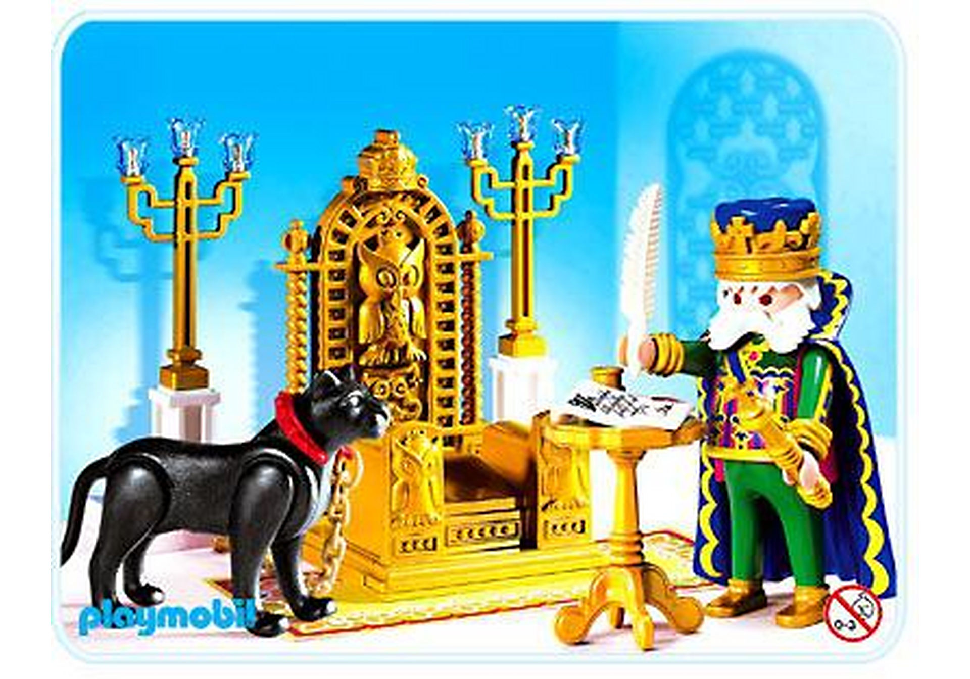 4256-A König mit Thron zoom image1