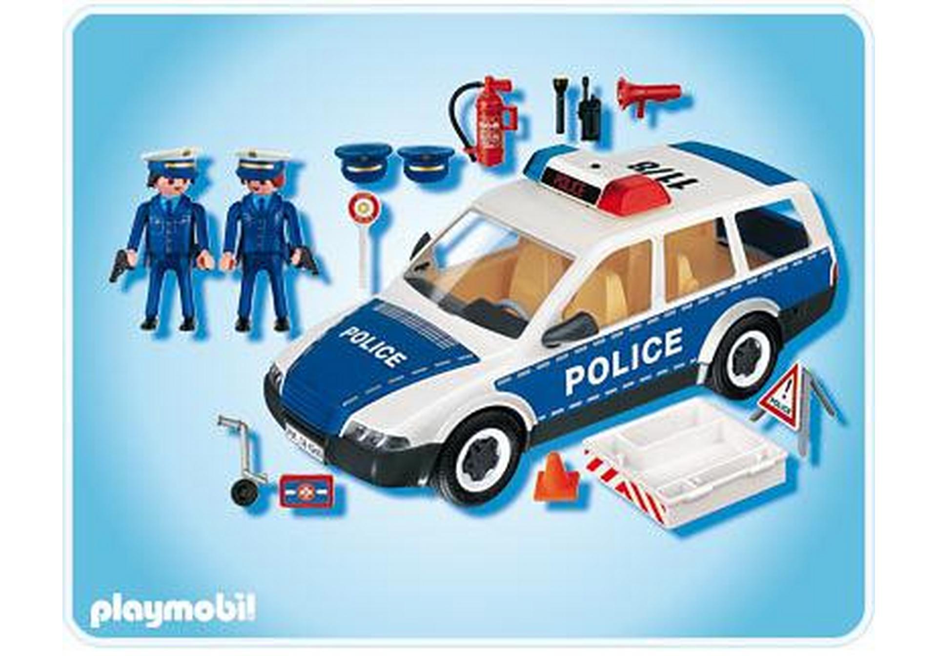 Voiture de police et patrouille 4260 a playmobil france - Playmobile policier ...
