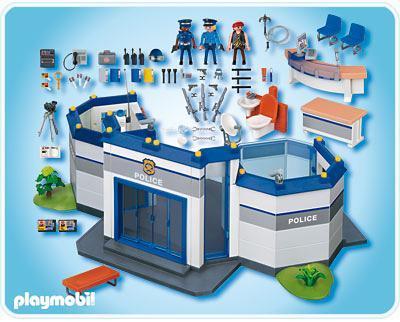 commissariat de police 4264 a playmobil france. Black Bedroom Furniture Sets. Home Design Ideas