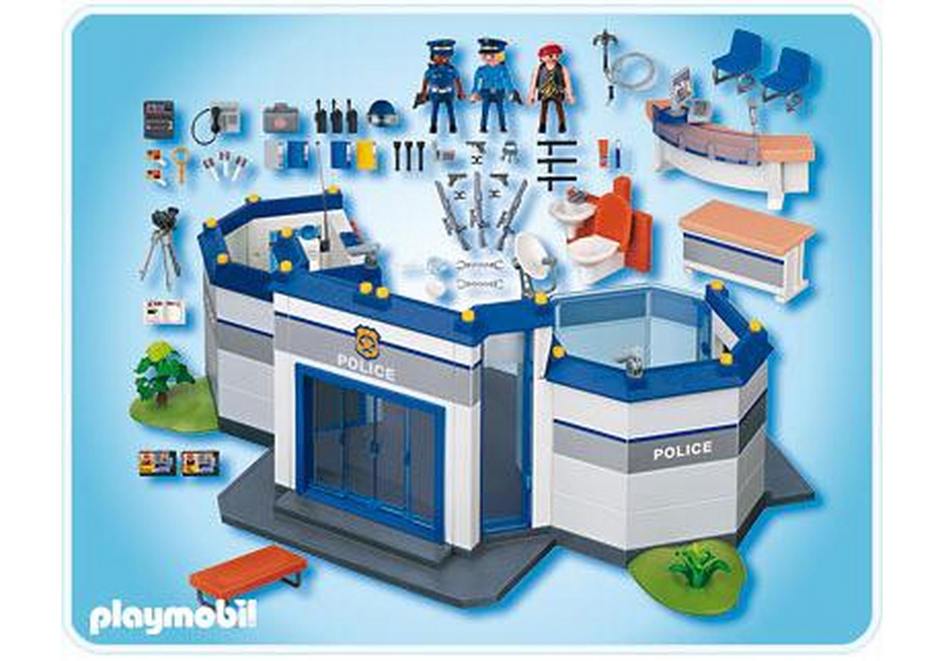 Commissariat de police 4264 a playmobil france - Caserne de police playmobil ...