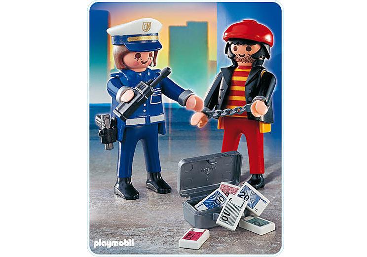4269-A Voleur et policière detail image 1