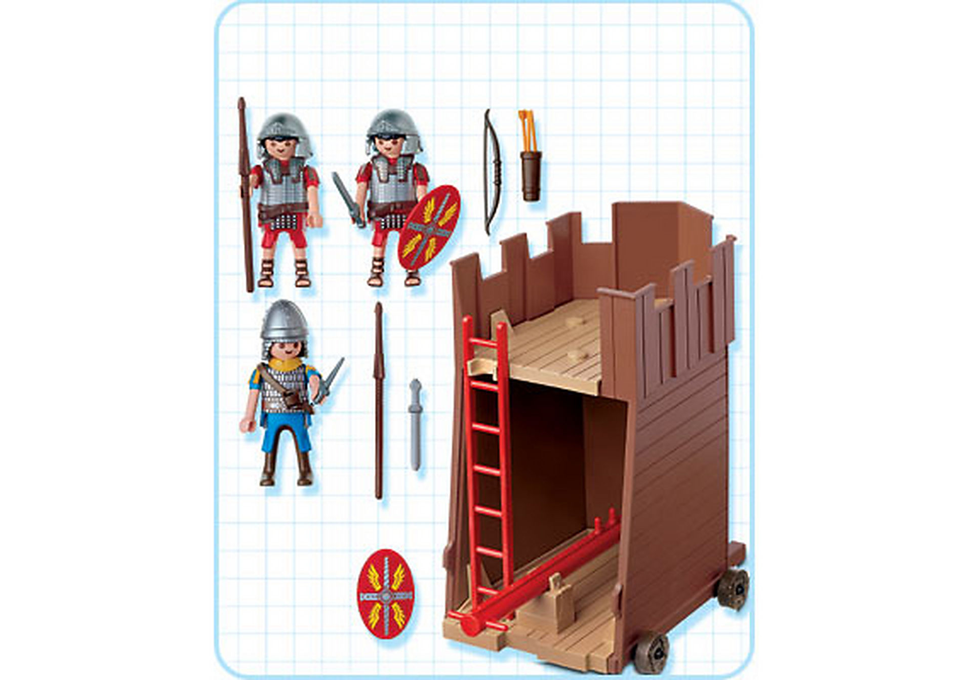4275-A Soldats romains / tour d'assaut zoom image2