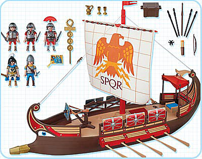 Coloriage Bateau Galere.Galere Romaine 1 4276 A Playmobil France