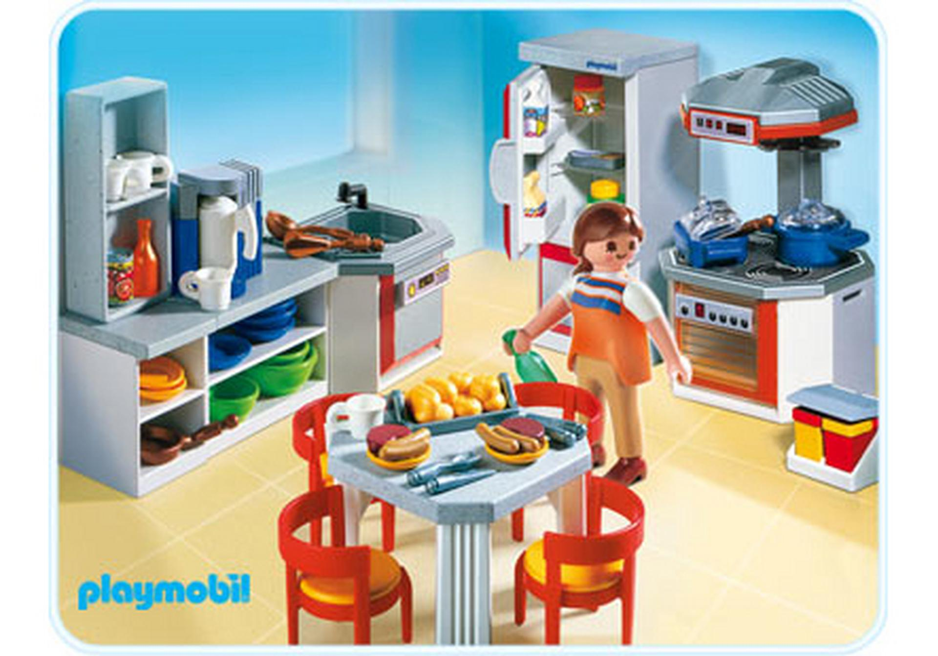 Kitchen with dinnette set 4283 a playmobil for Cuisine playmobil