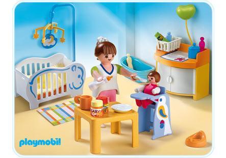 Chambre de b b 4286 a playmobil france for Playmobil chambre bebe