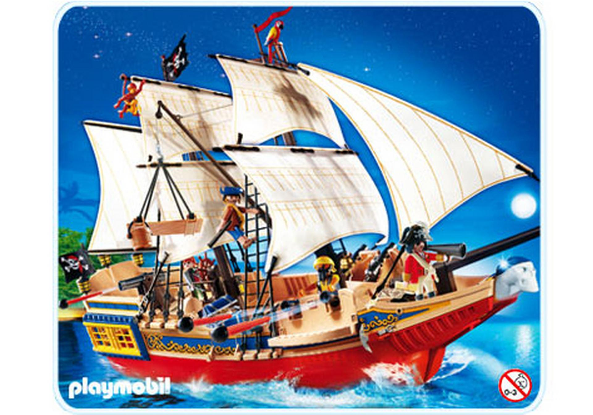 grand bateau camouflage des pirates 4290 a playmobil. Black Bedroom Furniture Sets. Home Design Ideas