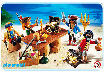 4292-A Piratenbande mit Beuteschatz detail image 1