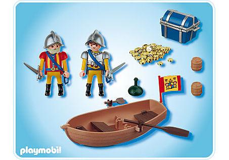 4295-A Soldats avec barque et trésor detail image 2