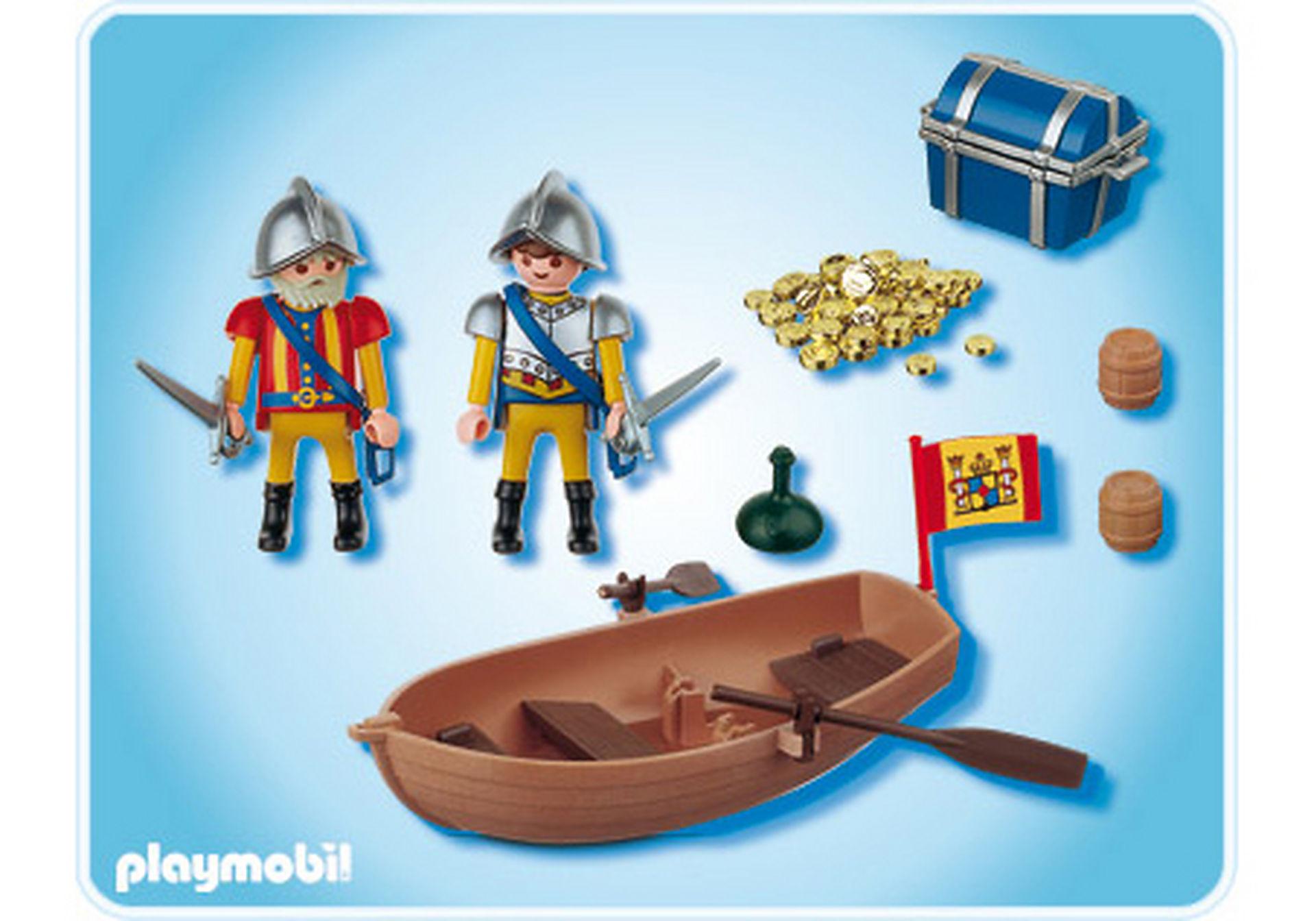 4295-A Soldats avec barque et trésor zoom image2