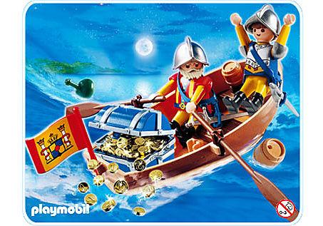 4295-A Soldats avec barque et trésor detail image 1