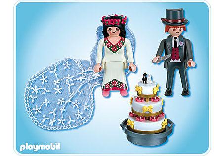 4298-A Brautpaar mit Hochzeitstorte detail image 2