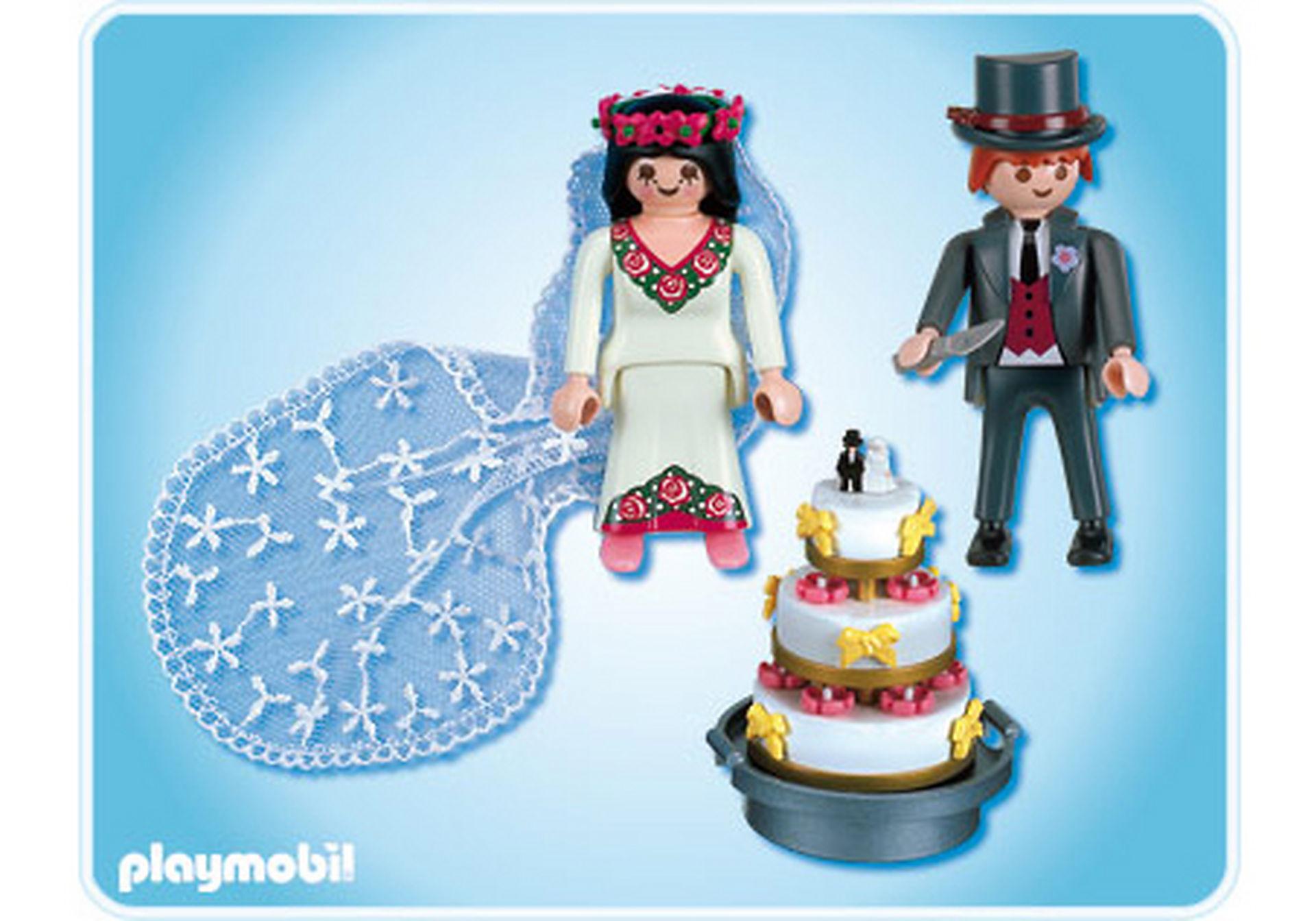 4298-A Brautpaar mit Hochzeitstorte zoom image2