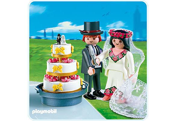 4298-A Brautpaar mit Hochzeitstorte detail image 1
