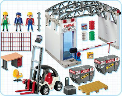 http://media.playmobil.com/i/playmobil/4314-A_product_box_back/Manutentionnaires / entrepôt / chariot élévateur