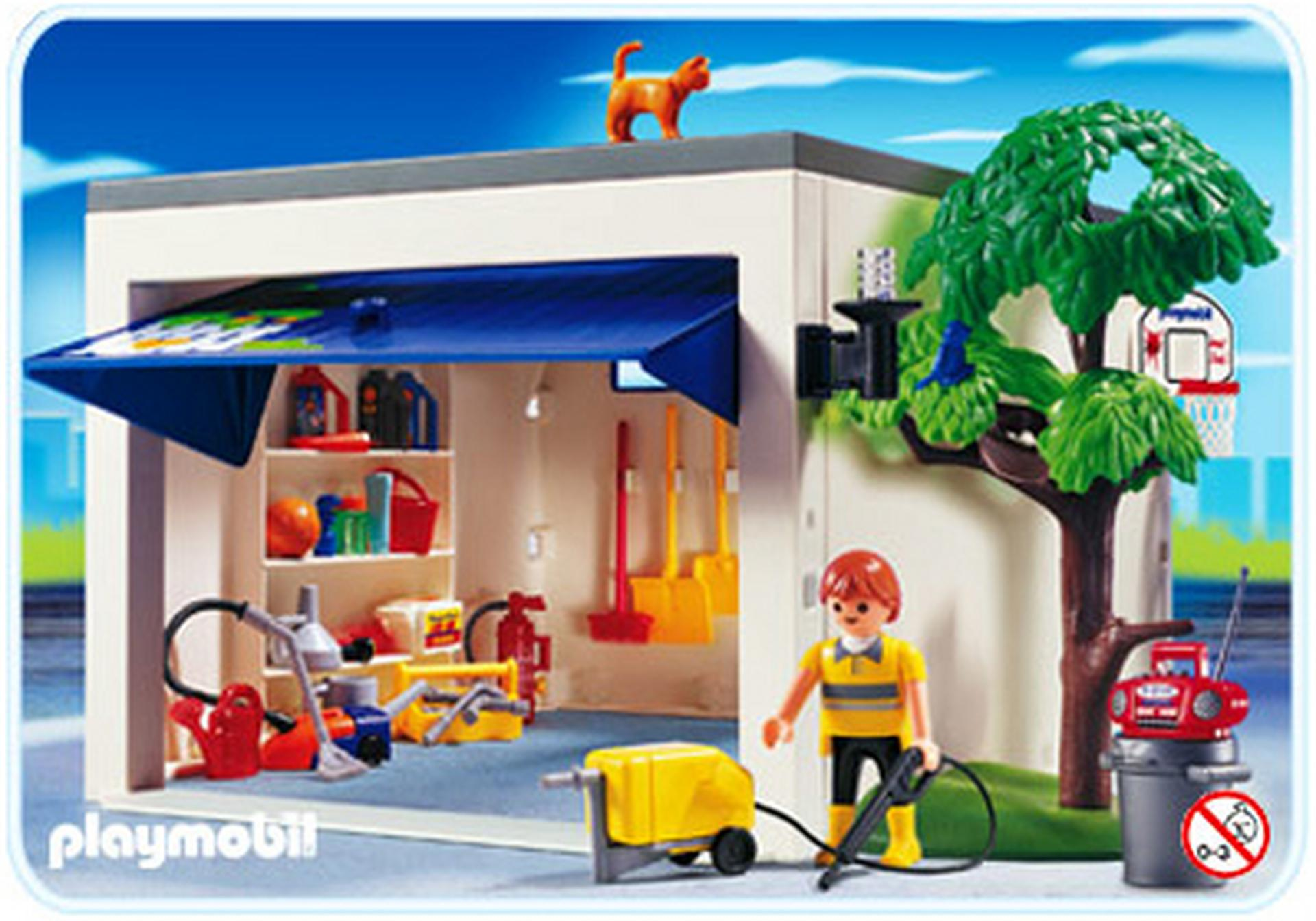 garage de la maison 4318 a playmobil france. Black Bedroom Furniture Sets. Home Design Ideas