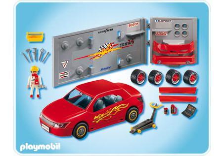 voiture de sport rouge avec accessoires 4321 a playmobil suisse. Black Bedroom Furniture Sets. Home Design Ideas