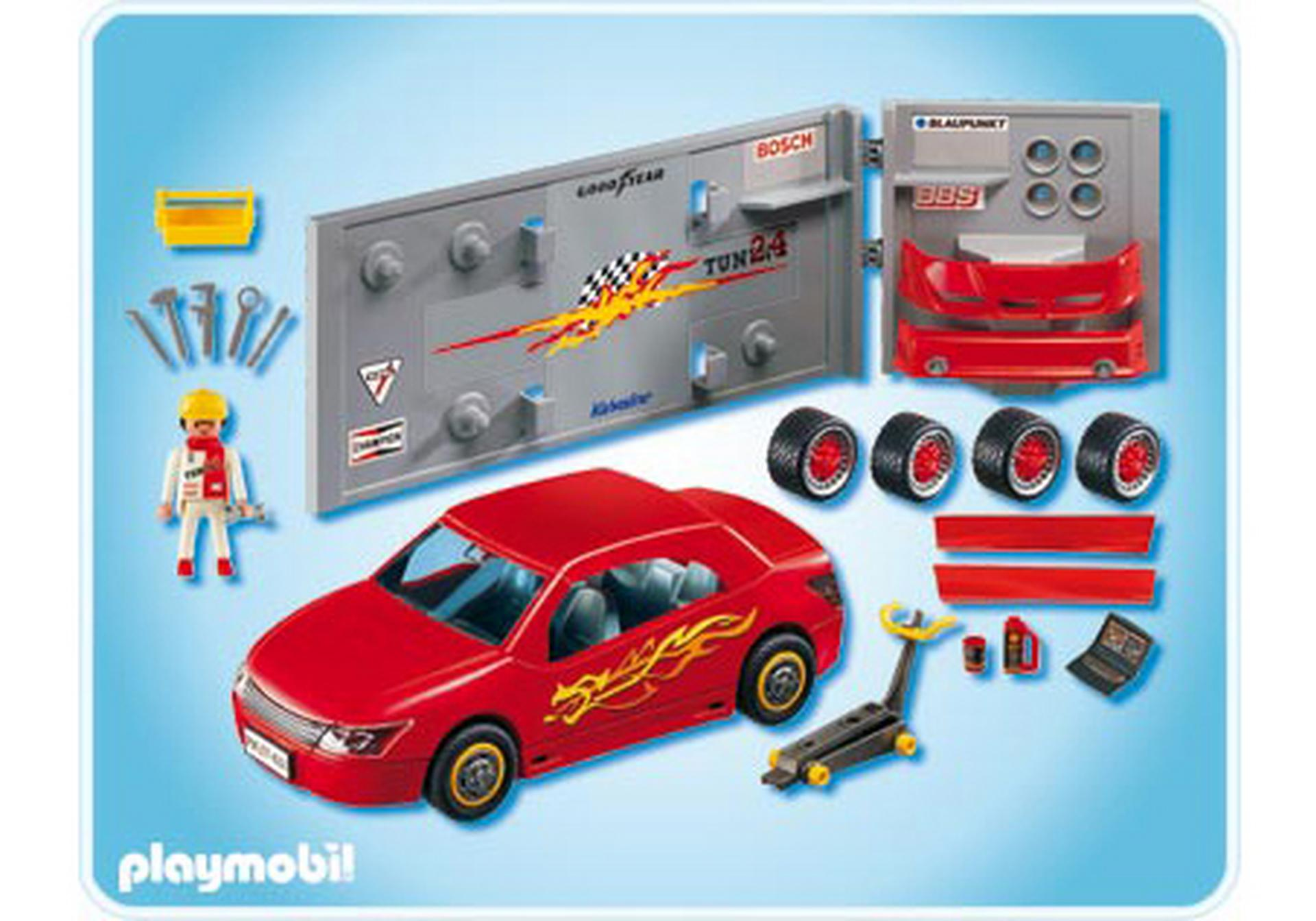 voiture avec atelier tuning 4321 a playmobil france. Black Bedroom Furniture Sets. Home Design Ideas