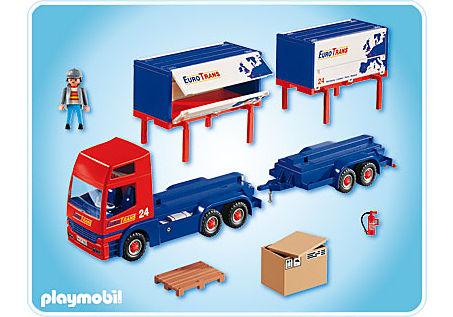 4323-A Routier avec camion et remorque detail image 2