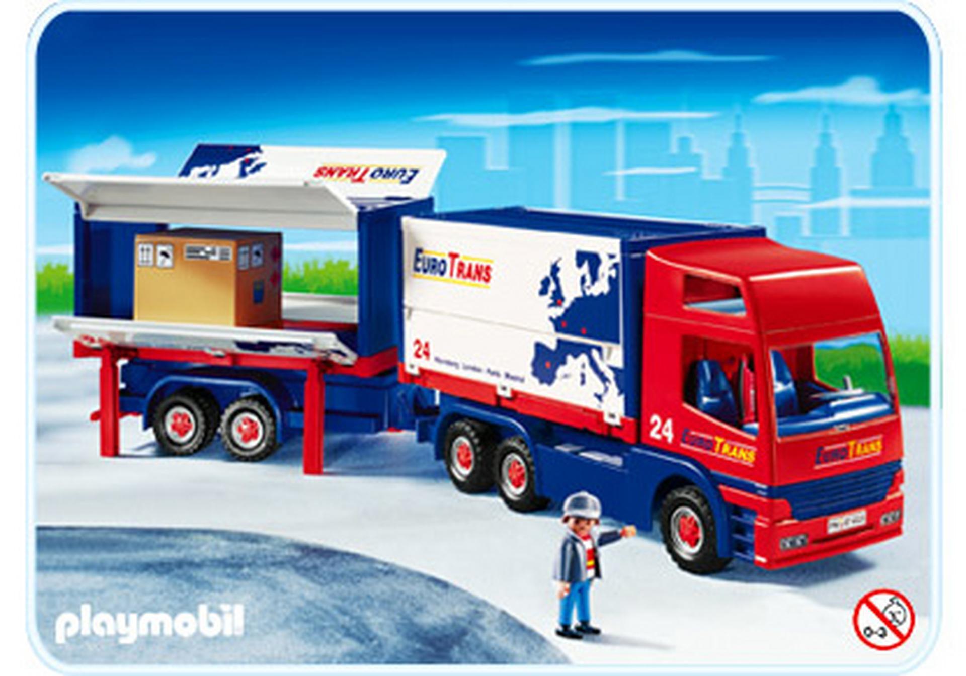 Routier avec camion et remorque 4323 a playmobil france - Playmobil camion ...