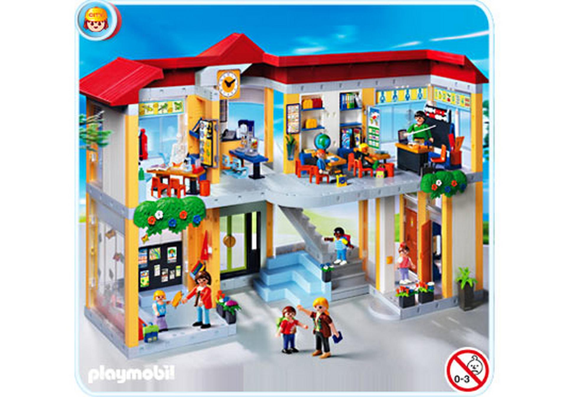 gro e schule mit einrichtung 4324 a playmobil deutschland. Black Bedroom Furniture Sets. Home Design Ideas