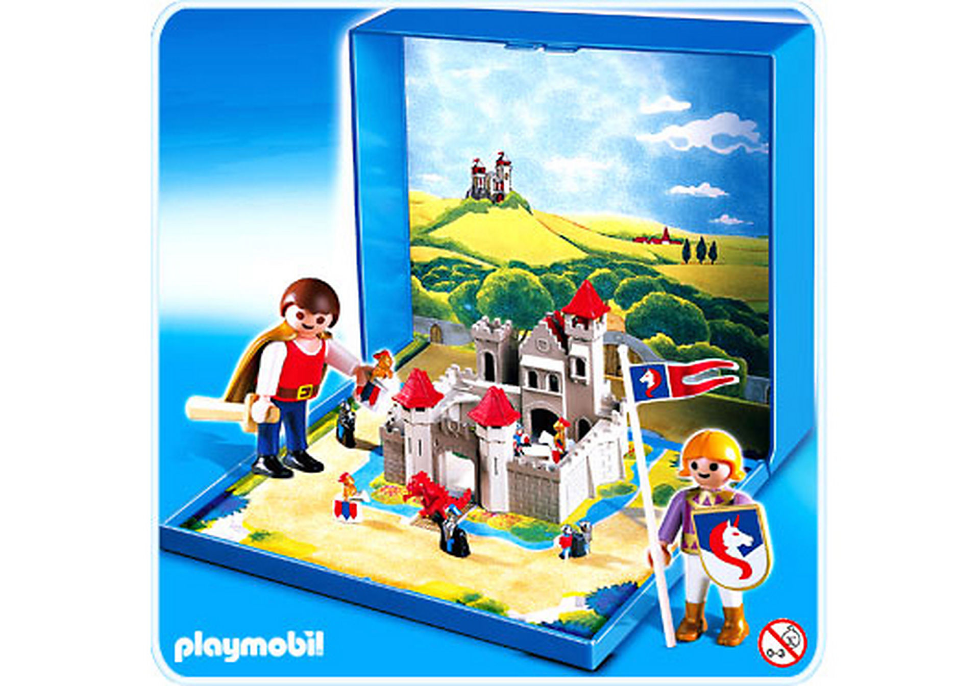 4333-A Micro Playmobil Chevaliers zoom image1