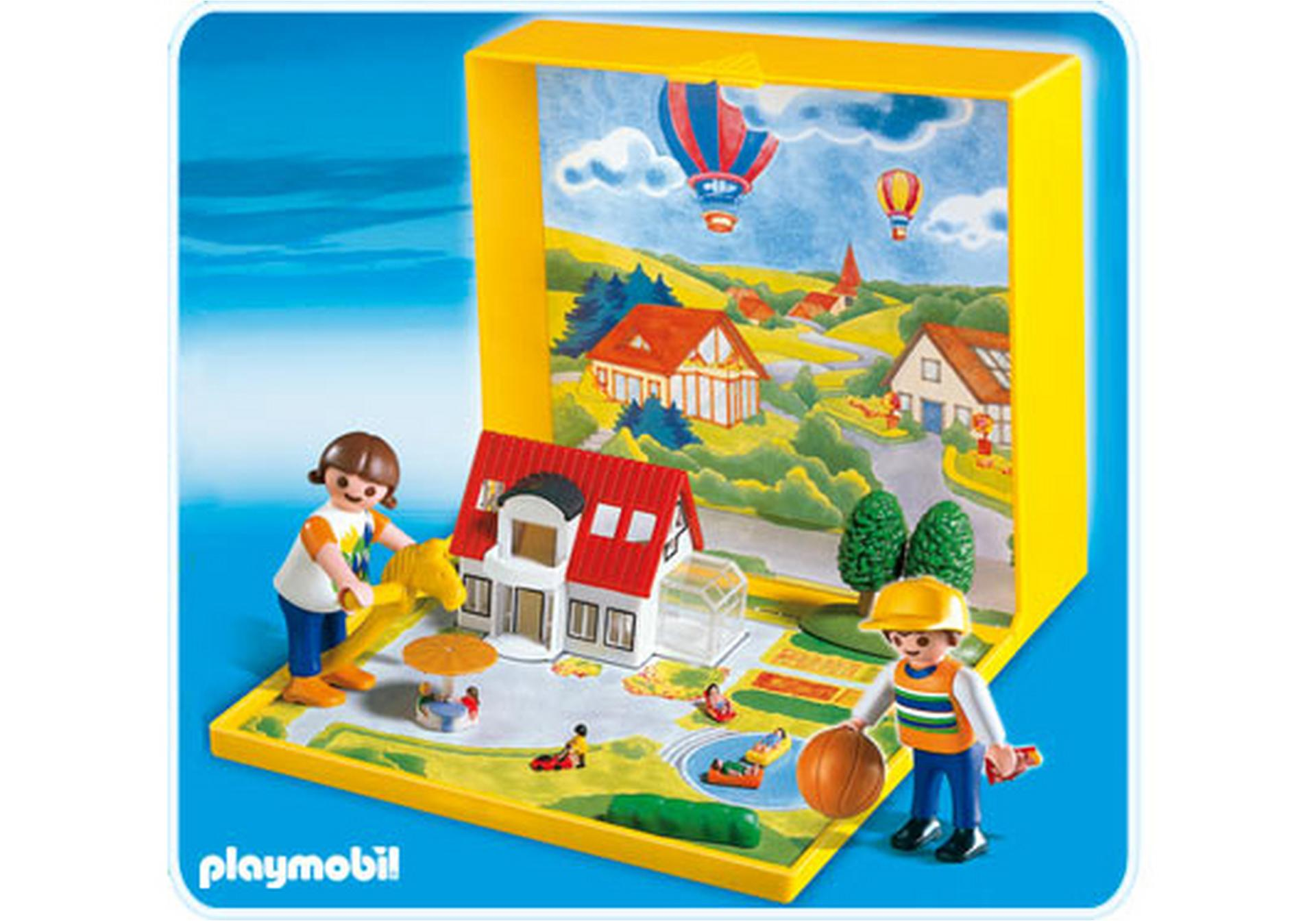 micro playmobil villa moderne 4335 a playmobil france. Black Bedroom Furniture Sets. Home Design Ideas