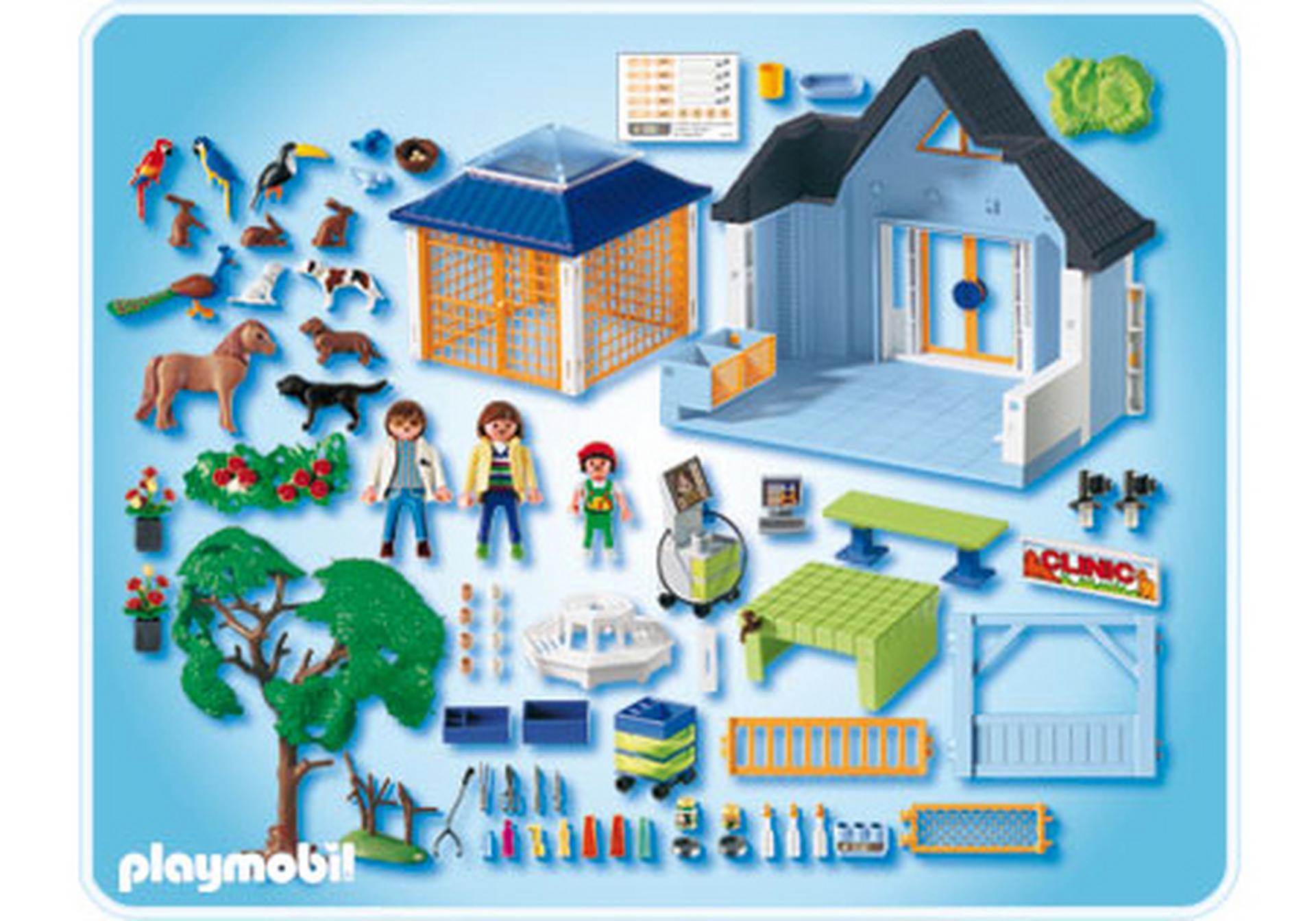 tierklinik mit gehegen 4343 a playmobil deutschland. Black Bedroom Furniture Sets. Home Design Ideas