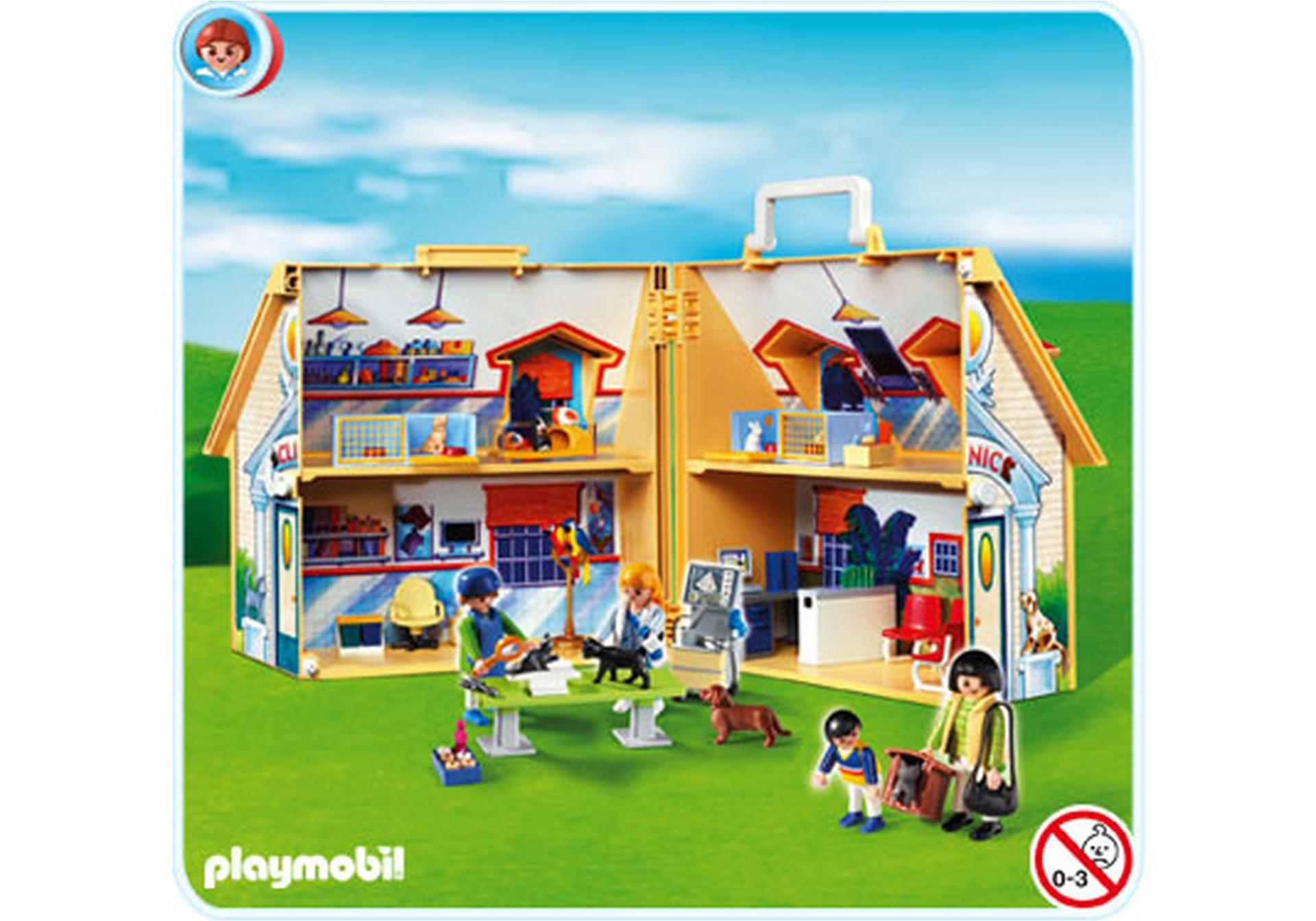 Clinique v t rinaire transportable 4374 a playmobil for Transportables haus
